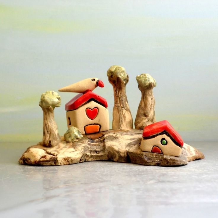 Ceramic sculpture, Cute office accessories, Ceramics and pottery, Keramik und töpferwaren, Rustic home decor, Anniversary gift, Best friend by ednapio on Etsy