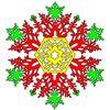 ¡Un estupendo juego de Colorear Copos de Nieve totalmente gratuito!