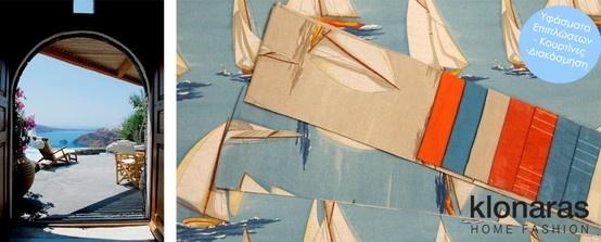 Navy Marine Υφάσματα επιπλώσεων  textiles decoration #home #deco #decoration www.klonaras.gr