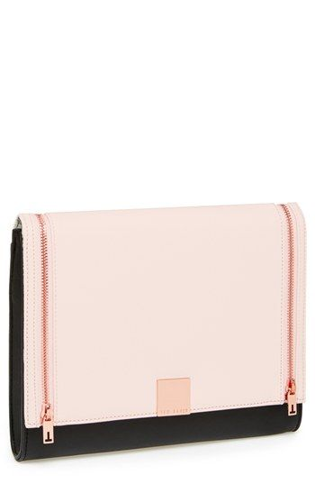 Ted Baker London Leather Clutch available at #Nordstrom - nice and simple…