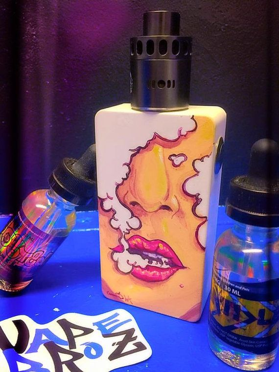 CUSTOM Hand-Painted Vape Mods by CrookedCrowStudio on Etsy
