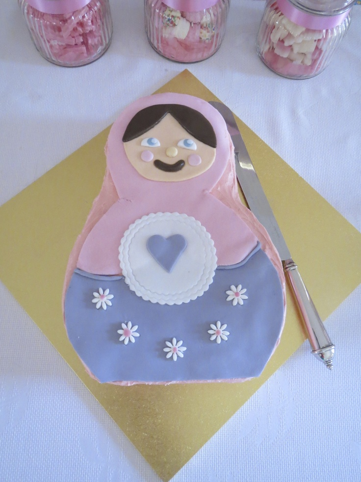 Babushka Matryoshka girl's birthday cake
