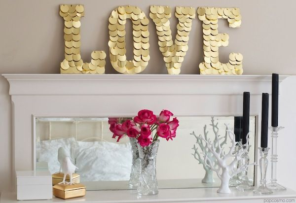 DIY Gold LOVE letters