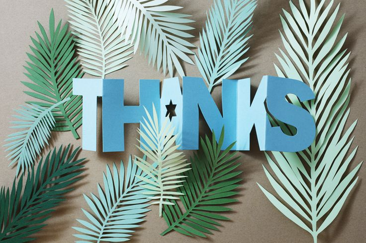 The word THANKS comes as card with envelope or as a hang tag from Punchline Tag