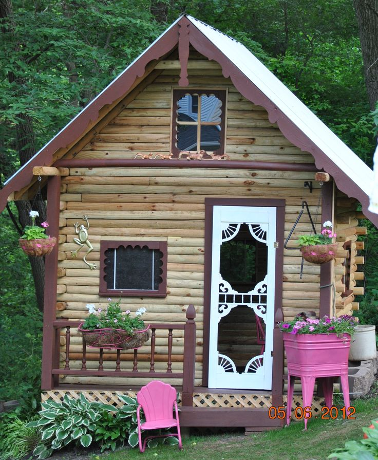 33 best images about daisys playhouse on pinterest for Outdoor playhouse kit