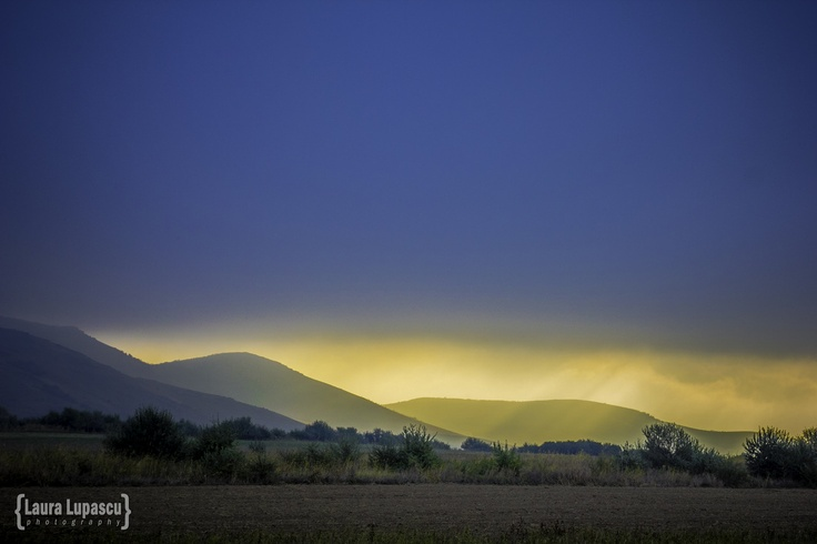 The amazing morning sun over the Macin Mountains offers a beautiful perspective.