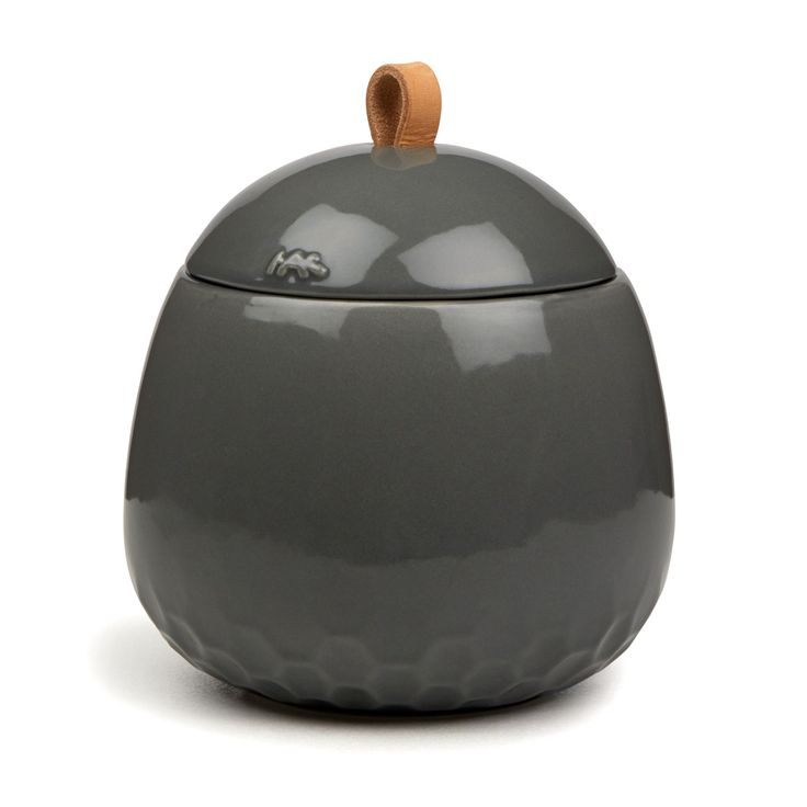 Kahler Mellibi Bathroom Storage Canister / Storage Jar - Large (Gray)