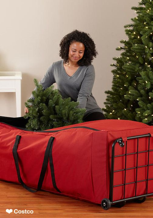 The Santa's Bags Extra Large Tree Dolly Storage System is designed to help you easily store your 6-9 ft. artificial Christmas tree, garlands, lights, and other treasured holiday decor. Each bag features a U-zippered opening for easy access, inner compression straps to maximize space and large rear wheels along with front swivels for easily moving your décor in and out of storage. A strong, all steel frame and durable fabric will ensure your storage bag will hold up for years to come.