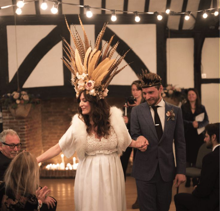 A beautiful bohemian bride wearing our gorgeous Apollonia faux fur jacket with silk satin sleeves and an open front by Blanche in the Brambles. Featured on The Mews Bridal Blog. Visit our website to order: http://www.blancheinthebrambles.co.uk/index.php/bridal/apolloniaivory.html