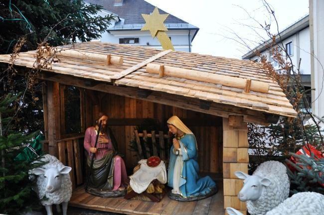 Villach - Betlehem neďaleko vianočných trhov