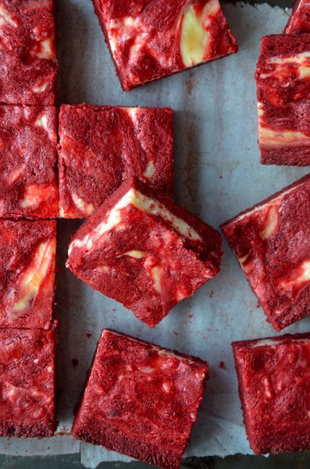 Red Velvet Cheesecake Brownies. Sure to be a hit!