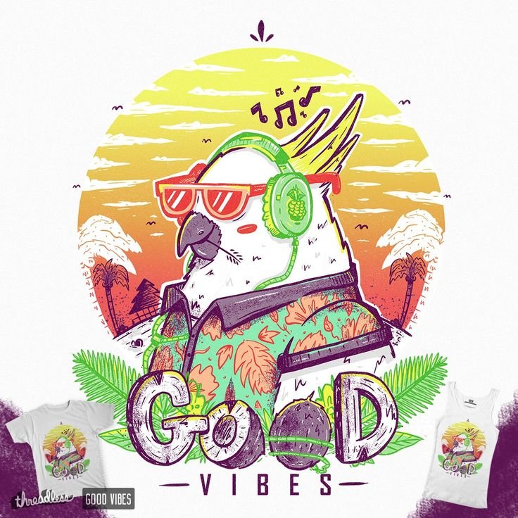 My good vibes design is completed and available now for voting on @Threadless​. Please show some support and vote for my design peeps. Really appreciated. Polly Wants Some Good Vibes! on Threadless