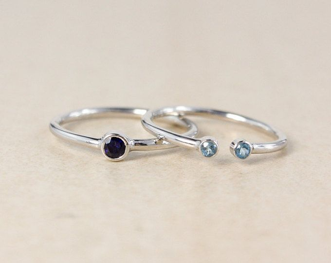 Stacking Birthstone Rings – Choose Your Stones and Setting