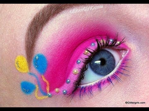 My Little Pony series: Pinkie Pie makeup tutorial - YouTube