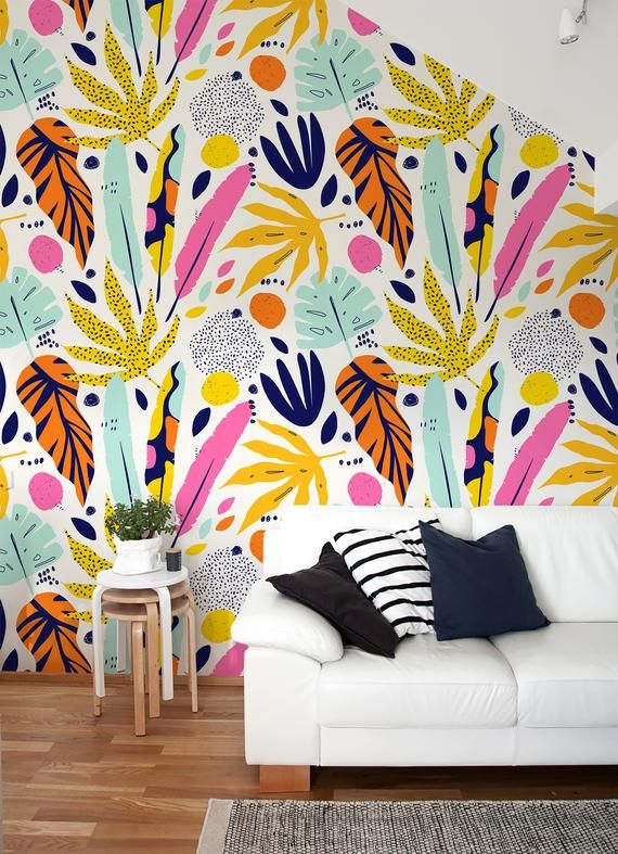 Removable Wallpaper Scandinavian Wallpaper Abstract Wallpaper Peel And Stick Wallpaper Wall Paper Tropical Animal Print Leaves B196 Removable Wallpaper Scandinavian Wallpaper Wall Wallpaper