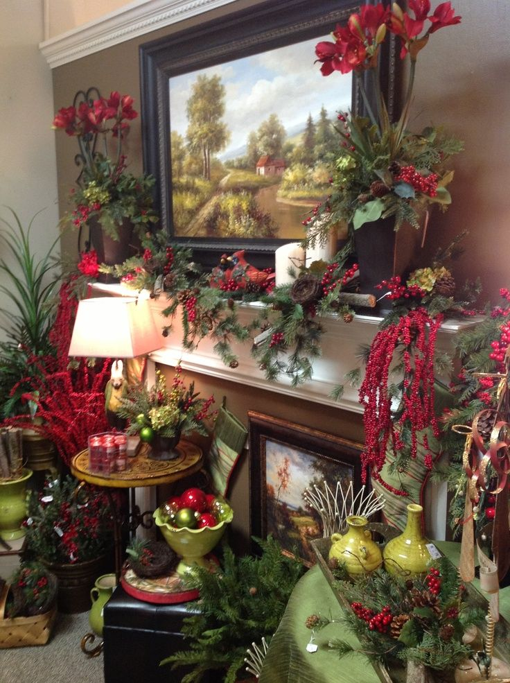 Country christmas mantel | Yuletide Joy - Decorating 2