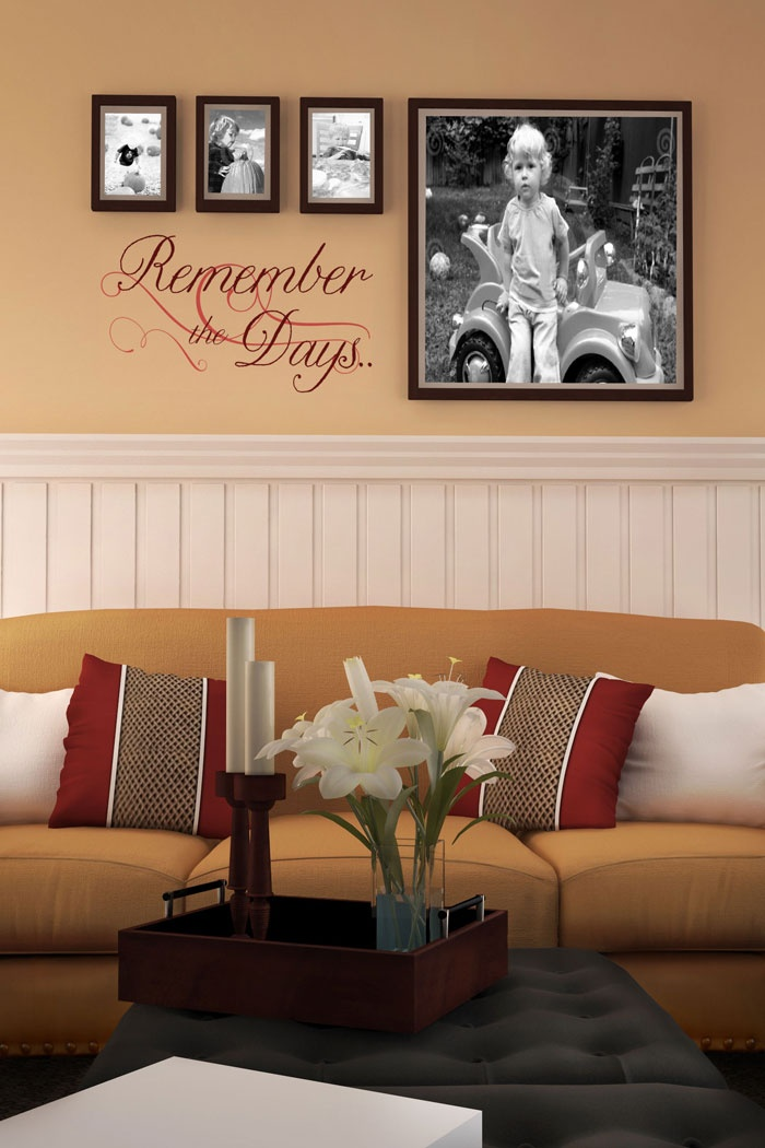 Remember the days Living Room Wall Decal