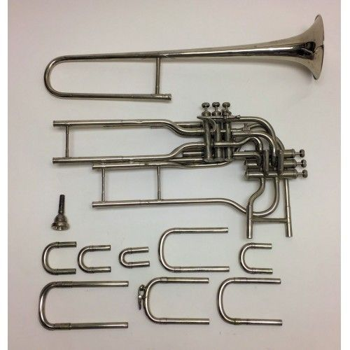 6 Independent Valve Trombone -parts- (Van Cauwelaert, early 1900's)