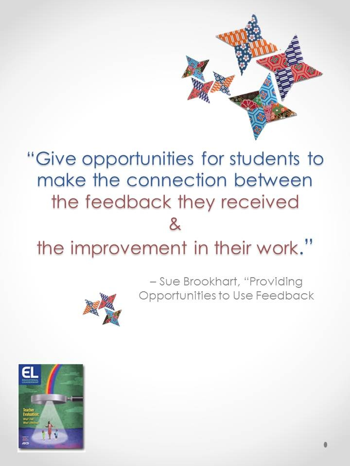 "Sue Brookhart, ""Providing Opportunities to Use Feedback"""