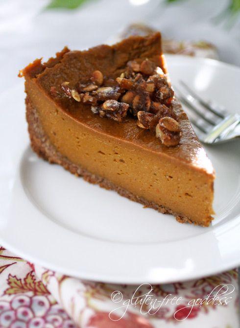 pumpkin pie w/ praline & coconut pecan crust #glutenfree