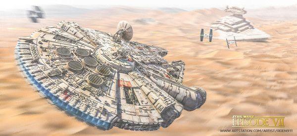 Star Wars art [ Antonis Karidis, 3 шт. ] star wars, тысячелетний сокол, арт, картинки, Sci-Fi, star wars episode 7