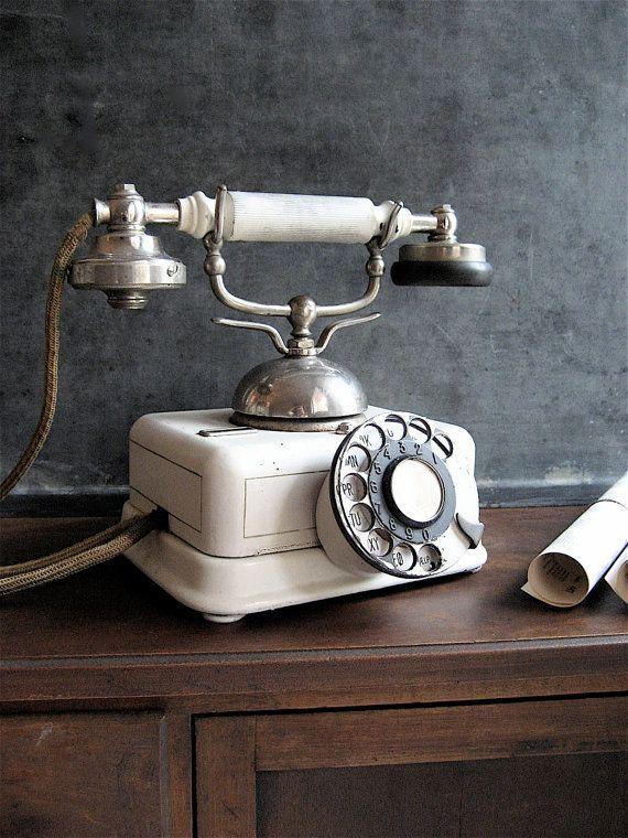 Vintage telefoon - Landelijk wonen