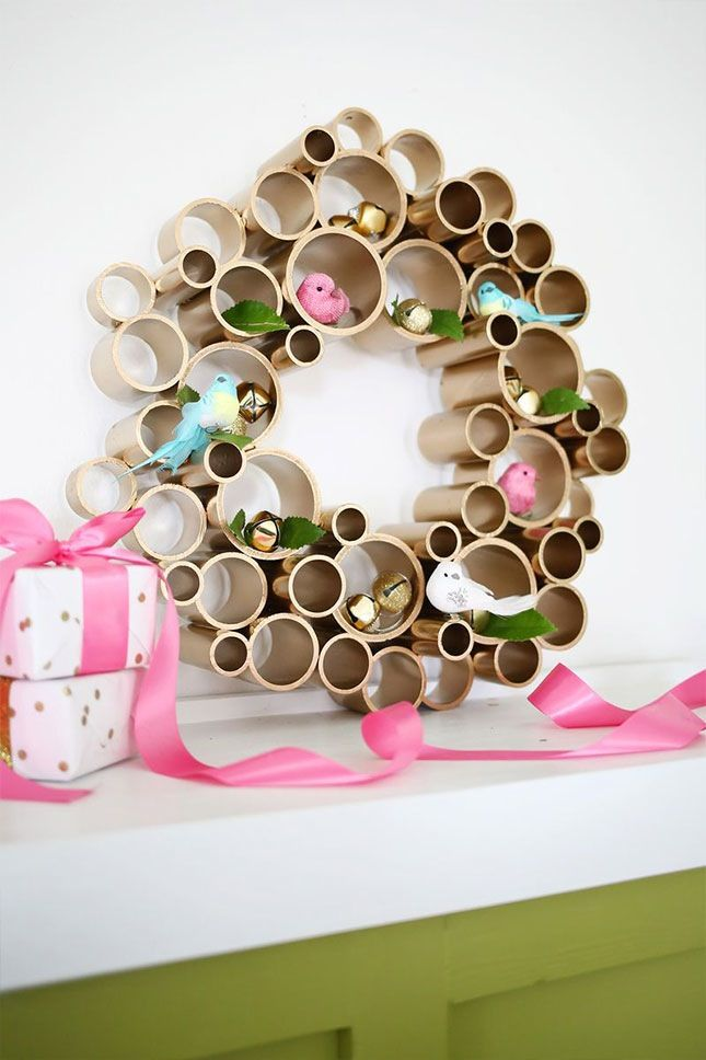 Save this holiday DIY project to learn how to make a PVC pipe Christmas wreath.