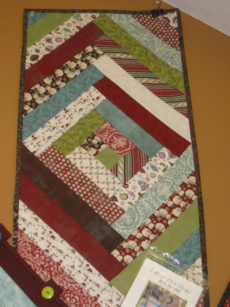 Pinterest Quilting Table Runners : Jelly Roll Quilts Jelly roll quilt as you go table runner Clever crafts Pinterest Jelly ...