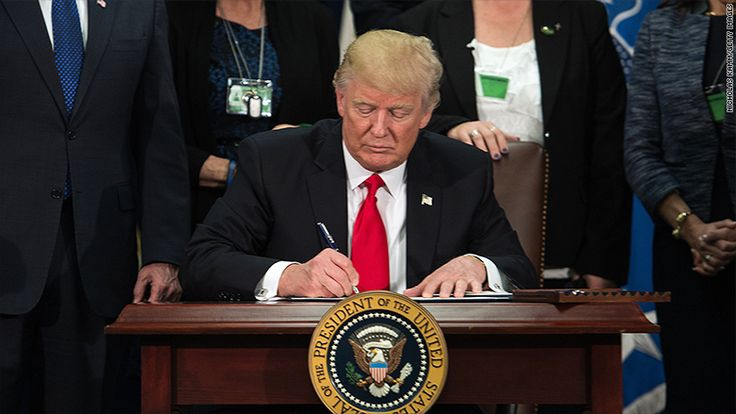 President Trump signed executive orders to stop federal funding of sanctuary cities to help fight illegal immigration.