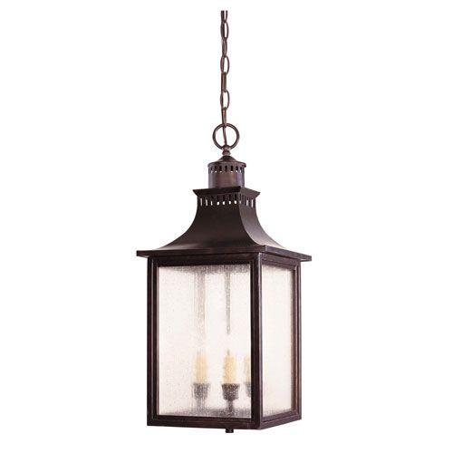 Monte Grande English Bronze Three Light Lantern Pendant Savoy House Lantern Pendant Lighti