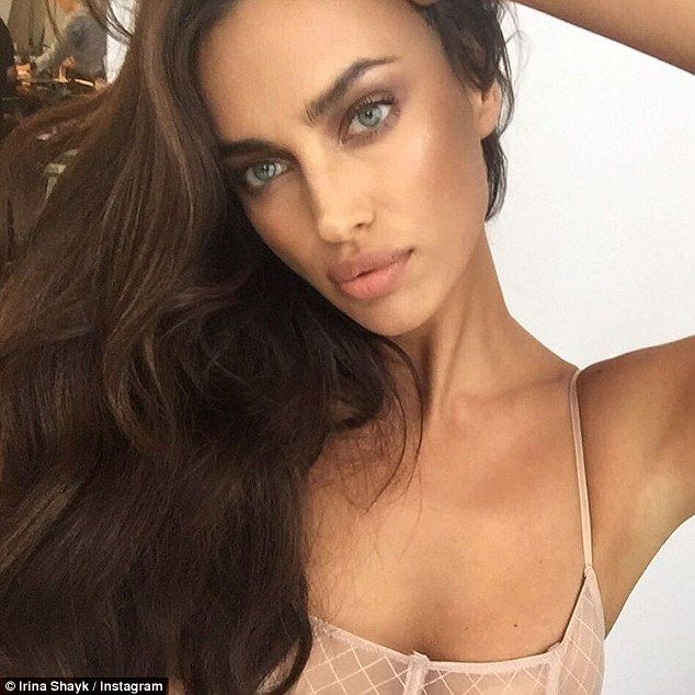 Striking beauty: Irina has been keeping her Instagram followers entertained thanks to a string of sexy selfies