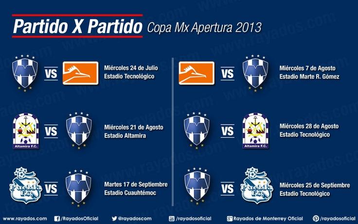 Conoce el calendario de #Rayados para la Copa Mx.