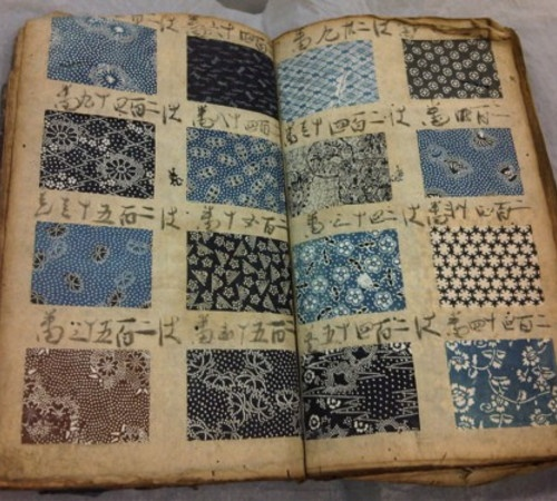 Antique Japanese pattern book