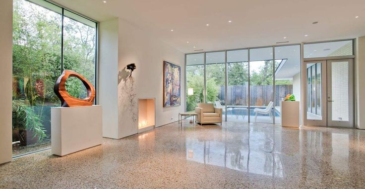 Polished Concrete Floor - 	 POLISHED CONCRETE - POLISHING BASICS Learn how to polish concrete floors to produce a high-gloss finish that never needs waxing