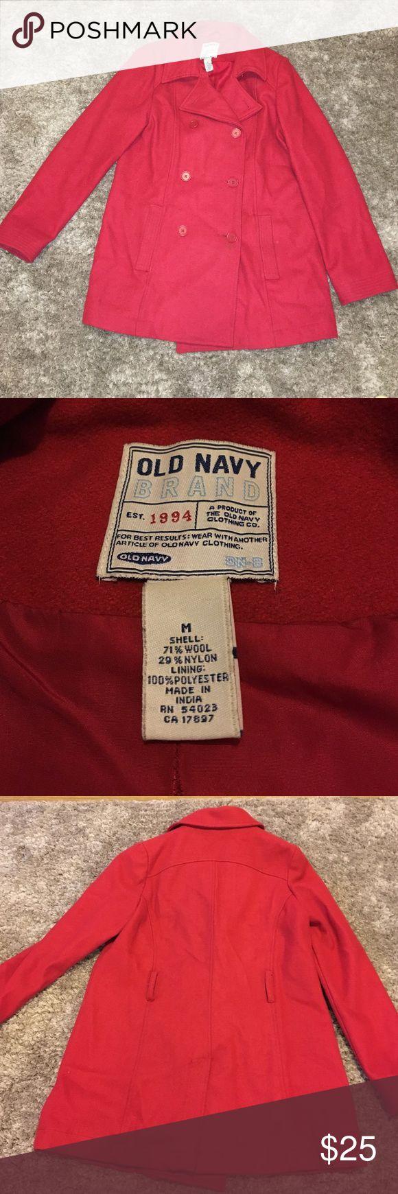 Red Old Navy pea coat Old Navy pea coat. Size Medium. Good used condition. Old Navy Jackets & Coats Pea Coats