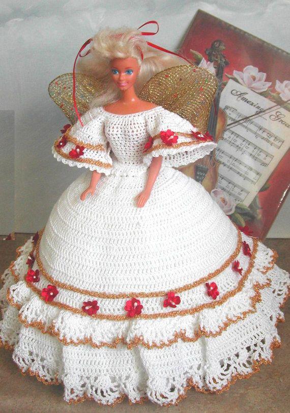 Crochet Fashion Doll Barbie Pattern 551 by JudysDollPatterns