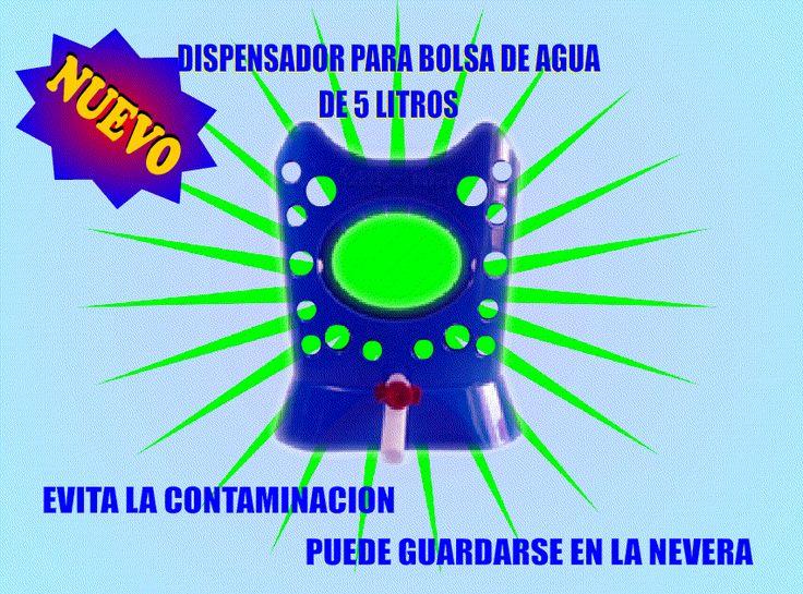 DISPENSADOR PARA BOLSA DE AGUA 6 LITROS VALOR $ 44.990 -Envio GRATIS a TODA COLOMBIA - CONTACTO : CEL y WATSAPP 3006392167-  Bogota D.C • Sirve agua de las bolsas de 5 litros fácilmente. • Evita la contaminación del agua al no permitir el paso de burbujas de aire dentro de la bolsa, como sucede en los botellones. • Vacía la totalidad del agua contenida en la bolsa. • El Dispensador para bolsa de aguan es un artículo de excelente presentación, que puede fácilmente colgar en la pared de su…
