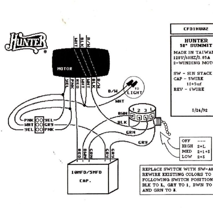 Diagram Hunter Ceiling Fan Switch Wiring Diagram