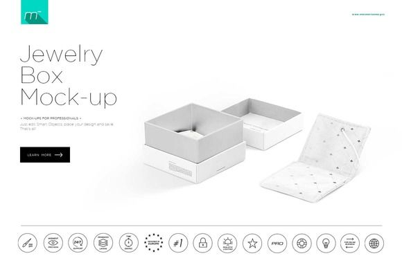Jewelry Box Mock-up by mesmeriseme.cube on @creativemarket