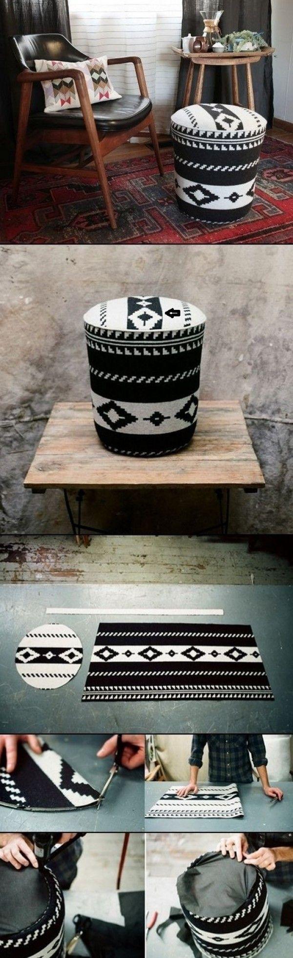 Faire de cette pouf DIY facile à partir d'un seau utilitaire @istandarddesign