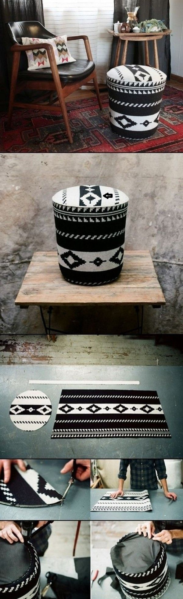 Make this easy DIY ottoman from a utility bucket @istandarddesign