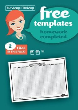 A term template for the teacher to complete for each student in the class. This makes it easy to see who has and hasnt completed homework or if it was late. Allows you to see patterns and inform you for report writing or parent teacher interviews.