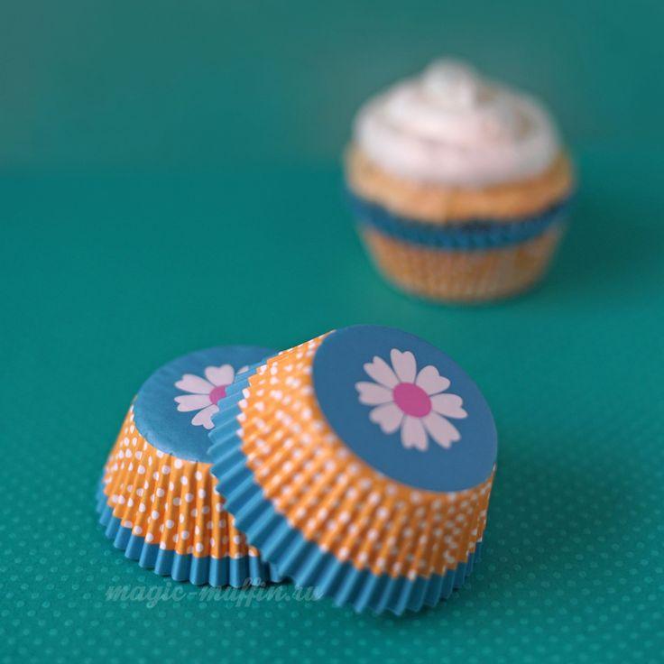 Формочки Цветок, 12 шт.  капкейк маффин торт декор крем выпечка рецепт cupcake muffin cake cup baking frosting decor birthday