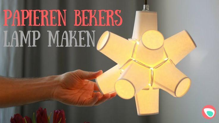 Lamp maken van papieren bekers - makkelijke DIY met instructievideo