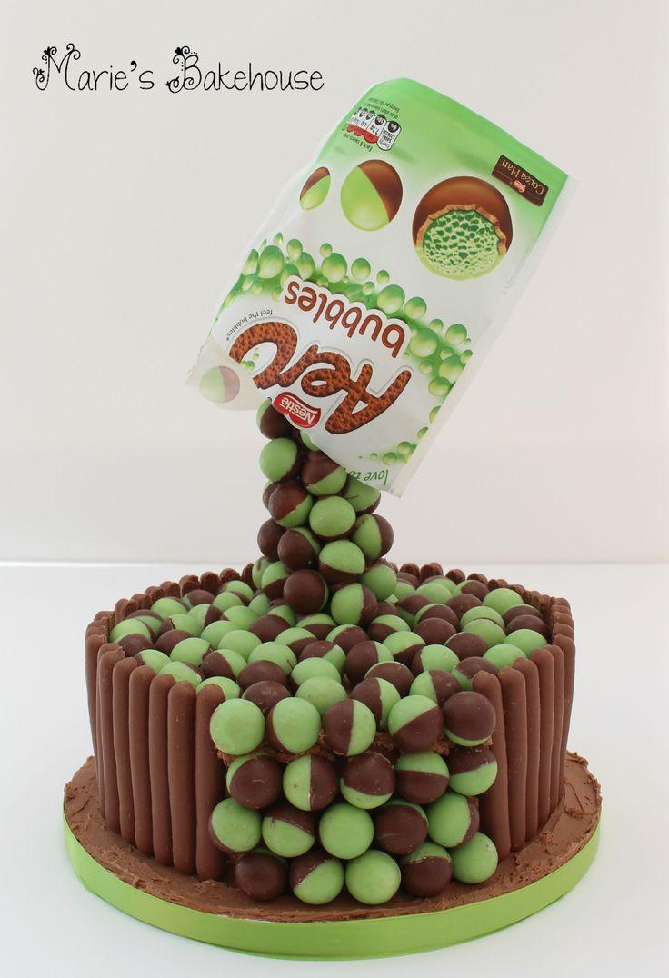 Gravity defying aero mint ball chocolate cake  www.facebook.com/MariesBakehouse www.mariesbakehouse.co.uk