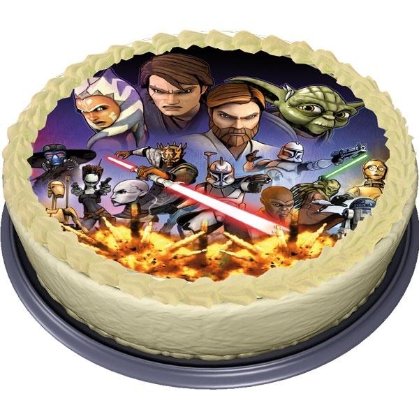 Tortenaufleger Star Wars Clone Wars 3  Soo genial muss ein Geburtstagskuchen aussehen!