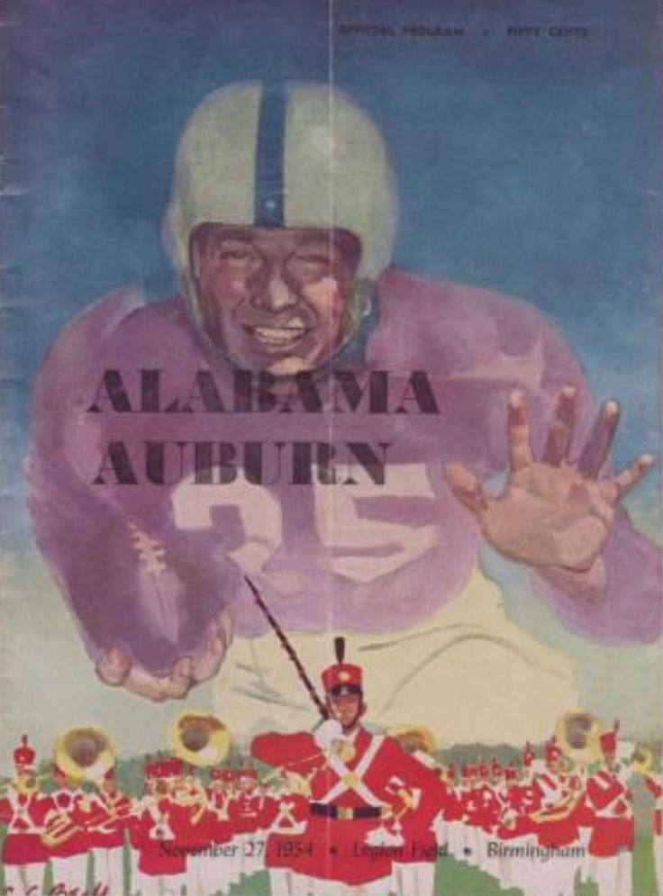 "1954 Auburn vs Alabama historic ""Iron Bowl"" game featuring Bart Starr #IronBowl #Alabama #RollTide #Bama #BuiltByBama #RTR #CrimsonTide  #RammerJammer"