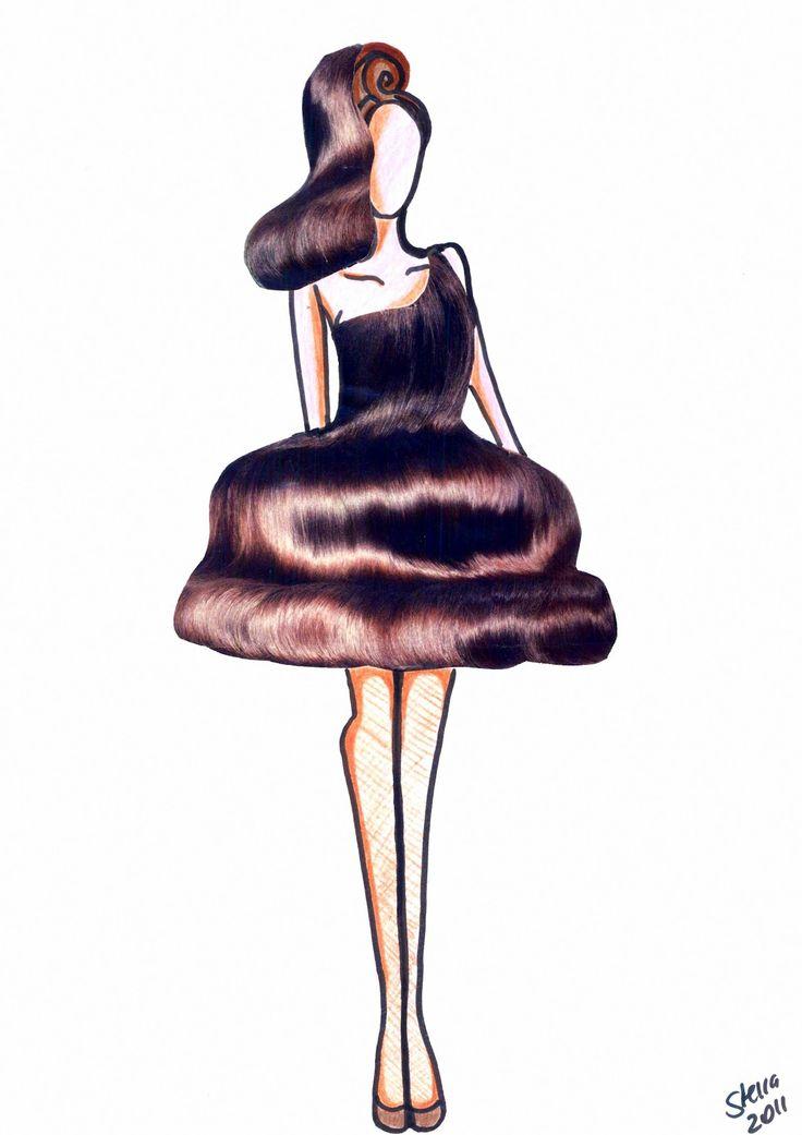Stellita PinK StaR: collage  fashion sketches hair collection