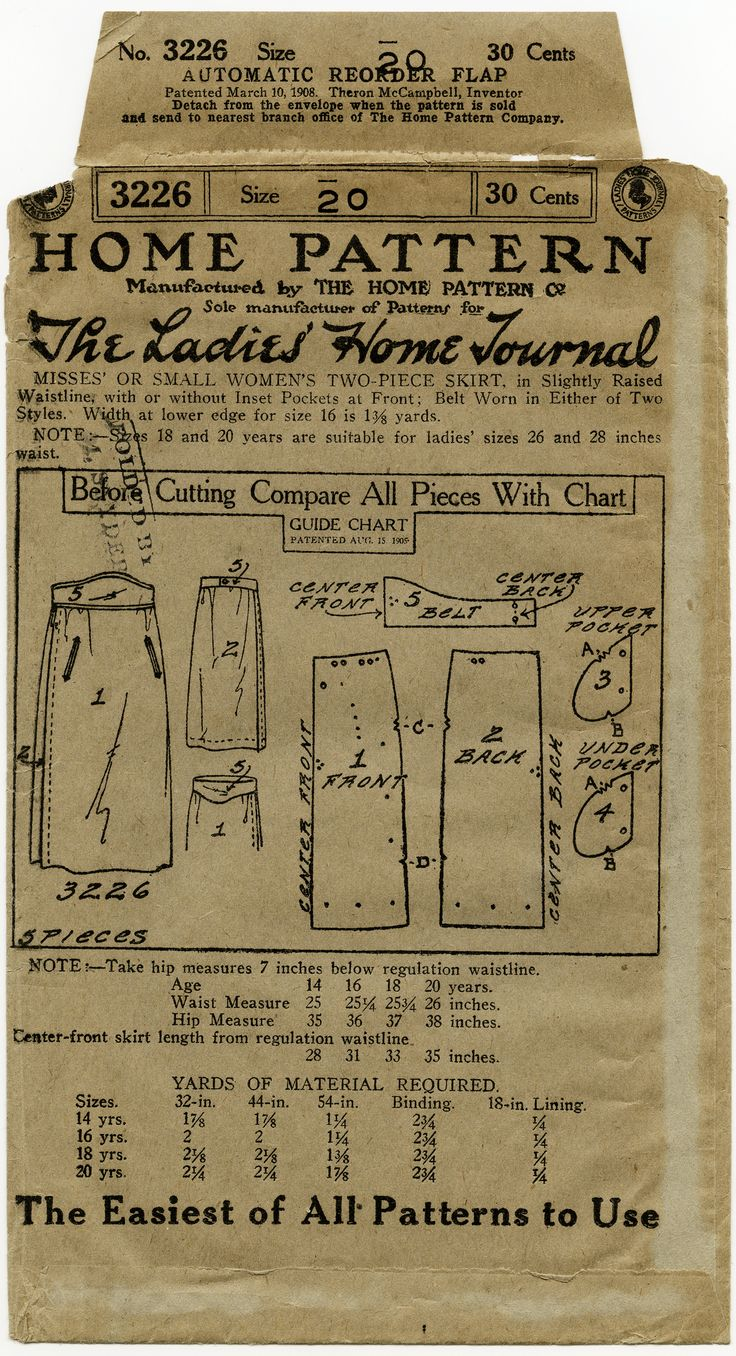 vintage sewing printable,vintage ephemera,aged envelope download,public domain pattern,antique skirt pattern,aged sewing envelope graphic