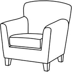 Sessel gezeichnet  68 besten Ausmalbilder Möbel Bilder auf Pinterest | Drawing, Musik ...
